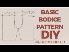 I demonstrated how to make this easy basic bodice block pattern with no darts. You can use this pattern to make designs like non fitting garments like shift . Kids Patterns, Doll Patterns, Pattern Cutting, Pattern Making, Dress Sewing Patterns, Clothing Patterns, Kids Blocks, Bodice Pattern, Pattern Drafting