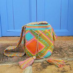 Wayuu Mochila / Bag / Hand-Woven in Colombia / Indigenous Bag / Multicolor by CasaLunaCo on Etsy