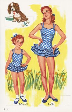 6 and Sweet 16free paper dolls The International Paper Doll Society from Arielle Gabriel