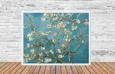 Beautiful Vincent Van Gogh print, Branches with almond blossom, 1890, fine art print