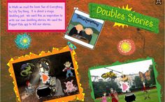"Doubles Stories using Puppet Pals - based on ""Two of Everything"" - http://carnazzosclass.wikispaces.com/Doubles+Stories"