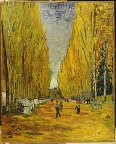 Vincent Van Gogh : L'Alee des Alyscamps, Arles, 1888