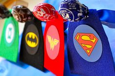 Superhero lollipops