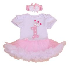 >> Click to Buy << Infant Girls Clothes 2016 Crown 1st Birthday Outfits Pink Lace Petti Rompers Party Dresses 2PCS Baby Girl Summer Clothing Sets #Affiliate
