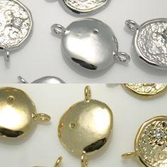 Flat Round Pendants Charms - Necklace Earrings Bracelets Connectors links #60…