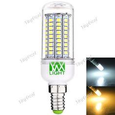 YWXLight E14 200-240V 12W 1000-1200LM 102-LED SMD 2835 LED Light Bulb - Warm White Natural White HLT-515262