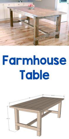Diy Furniture Table, Diy Dining Table, Diy Furniture Plans Wood Projects, Simple Furniture, Diy Kitchen Tables, Diy Furniture Making, Furniture Ideas, Furniture Design, Dining Room