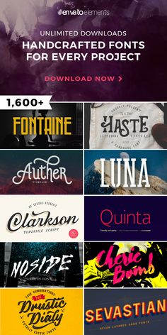 Unlimited Downloads of 2018 Best Fonts