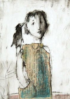 Girl bird chick portrait print of original drawing people illustration Figure Painting, Painting & Drawing, Encaustic Art, Whimsical Art, Drawing People, Bird Art, Face Art, Figurative Art, Altered Art