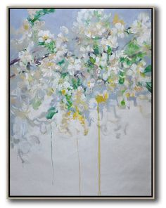 Vertical Abstract Flower Oil Painting #LX7B #Abstract #Artists_Lin-Xiang #flower-oil-painting