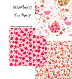 Michael Miller: strawberry tea party fabrics
