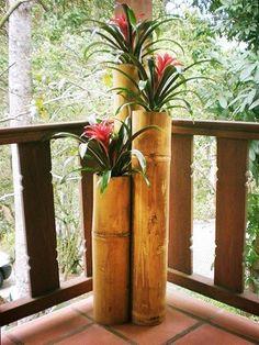 10 Warm Cool Tricks: Backyard Garden Vegetable How To Grow dream backyard garden seating areas.Backyard Garden Shed Porches backyard garden inspiration water features.Backyard Garden Shed Porches. Bamboo Planter, Bamboo Art, Bamboo Crafts, Diy Planters, Orchid Planters, Bamboo Ideas, Indoor Vegetable Gardening, Container Gardening, Deco Floral