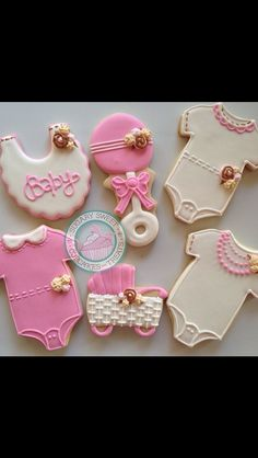 Baby girl onsie cookies