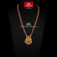 Jewelry OFF! Devika Ruby String Necklace Shipping Across and Call/Whatsapp us on Pearl Necklace Designs, Gold Earrings Designs, Beaded Jewelry Designs, Gold Jewellery Design, Pearl Jewelry, Gold Designs, Antique Necklace, Bead Jewellery, Indian Jewelry