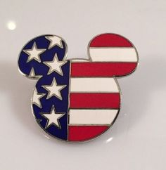 2001 Disney Trading Pin Mickey Ears USA Flag Stars Stripes 9 11 Remembrance | eBay