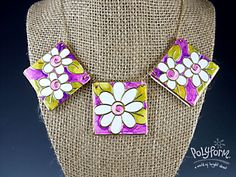 Premo! Blossoms Necklace -using Etch 'n Peel and alcohol markets - full tute  ~ Polymer Clay Tutorials
