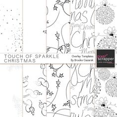 Touch of Sparkle Christmas Overlay Templates Kit*