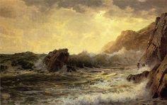 'Brechende Wellen', öl von William Trost Richards (1833-1905, United States)