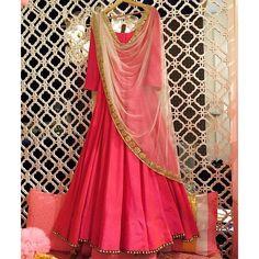 Pink Silk Embroidered Anarkali Suit