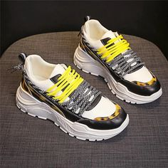 Women's Casual Shoes Fashion Soft Mesh Sneakers | Touchy Style Girls Sneakers, Best Sneakers, Black Sneakers, Casual Sneakers, Casual Shoes, Women's Casual, Shoes Sneakers, Yellow Shoes, Grey Shoes