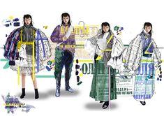 Northumbria fashion - Dresses for Women Mise En Page Portfolio Mode, Mode Portfolio Layout, Fashion Portfolio Layout, Fashion Design Sketches, Portfolio Design, Portfolio Ideas, Fashion Illustration Collage, Illustration Mode, Design Illustrations