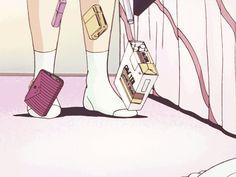 Animated gif about girl in anime trash by ㅤデク Anime Tumblr, Anime Gifs, Anime Art, Aesthetic Drawing, Aesthetic Gif, Retro Aesthetic, Comic Manga, Old Anime, Cartoon Pics