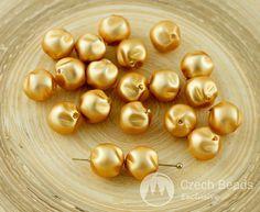 ✔ What's Hot Today: 20pcs Matte Gold Pearl Imitation Potato Czech Glass Beads 8mm https://czechbeadsexclusive.com/product/20pcs-matte-gold-pearl-imitation-potato-czech-glass-beads-8mm/?utm_source=PN&utm_medium=czechbeads&utm_campaign=SNAP #CzechBeadsExclusive #czechbeads #glassbeads #bead #beaded #beading #beadedjewelry #handmade