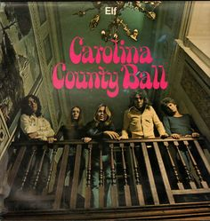"""ELF """"Carolina Country Ball"""" 1972 PURPLE Records.(UK) Produced by Roger Glover. RONNIE JAMES DIO & ELF sounded like REVOLVER or BEE GEES in 1967 as Electric Elves + he'd been """"pro"""" since 1959 & could sing anything! The Profits & Elves gave him a similar background w/DEEP PURPLE. By 1970 both were Heavy Rockers w/killer LPs.. Big difference.. ELF still struggled in '74 & that led to a new lineup on this album. """"LA-59"""", """"Annie New Orleans + title track rule. My fave DIO after '67 & before…"""