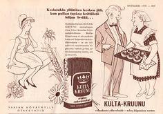 Kulta-Kruunu -vehnäjauhojen mainos on Kotiliedestä elokuulta 1959.