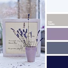 Delicate shades of violet match each other so beautifully and suit for wedding decoration. Use light colors for the background and rich colors for accents..