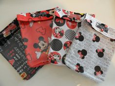 Mickey Ouch Pouch 4 pack (Medium 5x7) First Aid Diaper Bag Vacation Organizers Baby Toddler New Mom Disney Cruise Fish Extender Gift