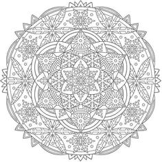 Nice snowflake mandala coloring pages welcome to dover publications from creative haven mandalas book . Colouring Pics, Animal Coloring Pages, Coloring Book Pages, Printable Coloring Pages, Coloring Pages For Grown Ups, Coloring For Kids, Free Coloring, Mandalas Drawing, Mandala Coloring Pages