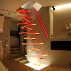 I love these weird stairs! Imagine trying to walk down these stairs half asleep! Oh goodness! Ohohoho Person of the last comentary, imagine being half asleep AND drunk, trying to walk up and down the stairs Escalier Design, Interior And Exterior, Interior Design, Interior Stairs, Staircase Design, Stair Design, Modern Staircase, Staircase Ideas, Staircase Metal