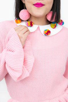 » Easy DIY Pom Pom Collar