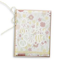 We love this delicate card made with the Big On You stamp set. Perfect for Mother's Day!