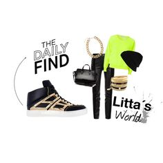 """Chic Sneakers  - Outfit  #sneakers #neon #relax #Chic #Trend #LITTATV #Litta´s World"" by littatv on Polyvore"