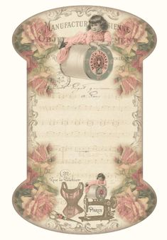 JanetK.Design Free digital vintage printable: Floss Card