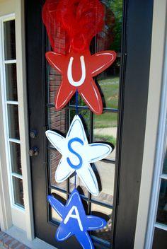 4th of July Door Hanger Summer Door Hanger by LooLeighsCharm, $55.00