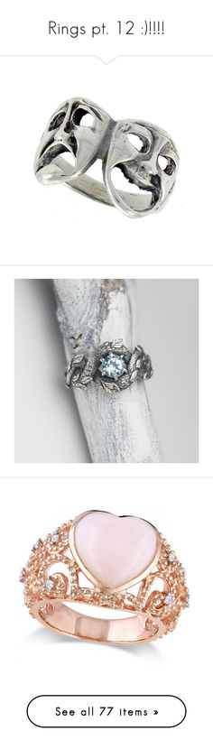 """""""Rings pt. 12 :)!!!!"""" by kelseystan97 ❤ liked on Polyvore featuring jewelry, rings, accessories, wide silver ring, sterling silver jewelry, silver rings, wide sterling silver rings, silver jewellery, vintage jewellery and vintage rings"""