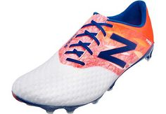 New Balance Furon Pro FG Soccer Cleats - White and Flame