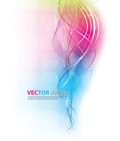 Dynamic Colored backgrounds vector set 02