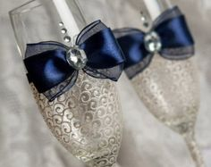 Items similar to luxury White & purple Wedding glasses from the collection LACE.  Swarovski Crystal on Etsy