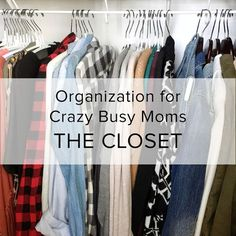Getting the Busy Mom Organized- The Closet and Cosmetics. Organization | DIY