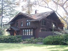 The Reeve Townsend House. A Greene and Greene Craftsman house in Long Beach California.