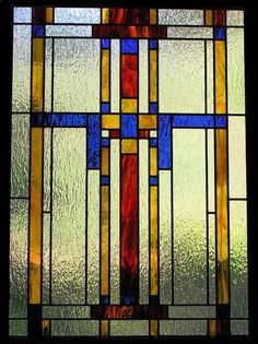 Gallery For > Frank Lloyd Wright Stained Glass Blue