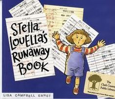 Stella Louella's Ruanaway Book by Lisa Campbell Ernst -- Everyone should read this hilarious book emphasizing the need to keep up with your library book.  See if you can infer what book Stella checked out from the library from the clues in the story.  AR BL 3.7  Points 0.5