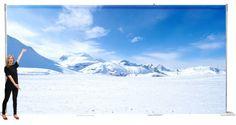 Snow Scene Backdrop (6m x 3m) | Frozen Party Theme | Frozen Party Theming Hire | Event Prop Hire