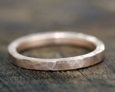 Hammered gold wedding band by Monkeys Always Look, I want this for Scott like whoa.