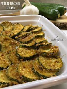Zucchine croc canti al forno Italian Recipes, Vegan Recipes, Cooking Recipes, Antipasto, I Love Food, Good Food, I Foods, Finger Foods, Food Inspiration