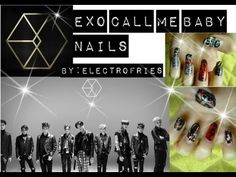 EXO- Call me baby nails tutorial by: Electrofries.